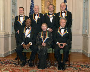 2012 Kennedy Center Honorees pose for group photo after gala dinner at the U.S. State Department