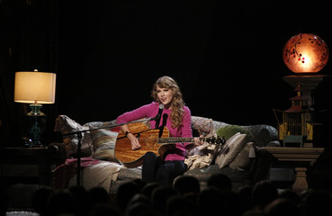 "Taylor Swift performs ""Ours"" at the 45th Country Music Association Awards in Nashville"