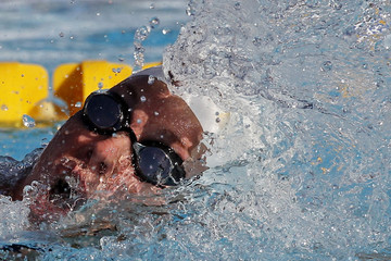 Netherlands' Heemskerk competes during the women's 100 meter freestyle final at the Paris Open swimming competition