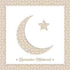 ramadan mubarak, ramadan feast greeting card vector illustration