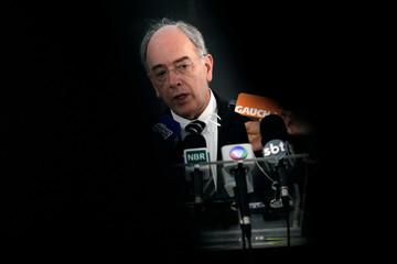 Brazil's state-run oil company Petroleo Brasileiro SA Chief Executive Officer Pedro Parente speaks during a news conference in Brasilia