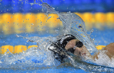 Kozma of Hungary competes at the men's 200 m freestyle semi-final during the 2012 European Swimming Championships in Debrecen