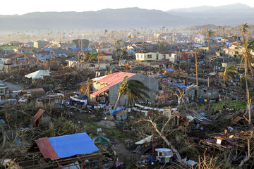A view of the coastal town of Cateel that was devastated at the height of Typhoon Bopha in Davao Oriental in southern Philippines
