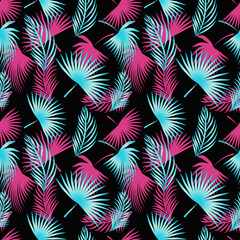 Floral seamless pattern. Exotic tropical wallpaper.