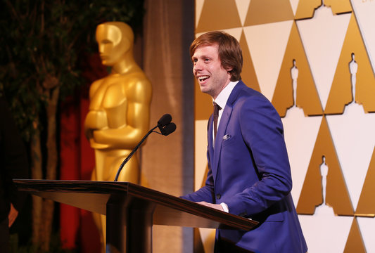 Director van Groeningen accepts his nomination certificate at the 86th Academy Awards Foreign Language Nominee Reception at Ray's and Stark Bar on the LACMA Campus in Los Angeles