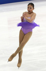 Geng of China performs during the ladies short program competition at the ISU Four Continents Figure Skating Championships in Taipei