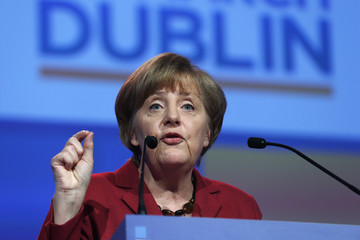 German Chancellor Merkel speaks at the European People's Party (EPP) Elections Congress in Dublin