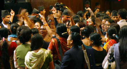 Female constituent assembly members demand that the parliamnt begin for business in the Constitutional Assembly building in Kathmandu