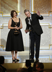 """David McGuire accepts the award for outstanding legal/courtroom program for 'People's Court"""" during the 41st Annual Daytime Emmy Awards in Beverly Hills"""