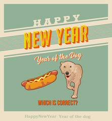 eps Vector image:Happy New Year! Year of the Dog?