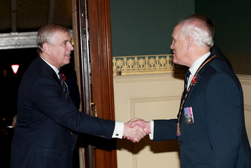 Prince Andrew, Duke of York arrives at the Royal Albert Hall during the Annual Festival of Remembrance in London