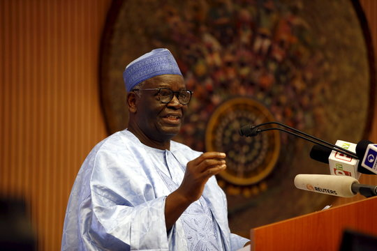Professor Ibrahim Gambari speaks at the opening session of a Public Lecture on Nigeria and the commonwealth of Nations in Abuja, Nigeria