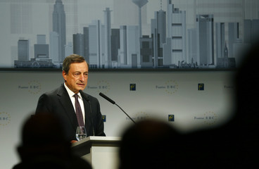 ECB President Draghi addresses European Banking Congress in Frankfurt