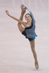 Kwak of South Korea performs during the Ladies Free Skating competition at the ISU Four Continents Figure Skating Championships in Jeonju