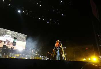 Aldean performs on the main stage during the second day of the Stagecoach country music festival in Indio