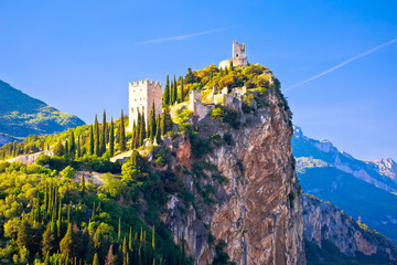 Arco castle on high rock view Wall mural