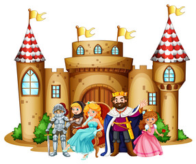 King and queen at the castle