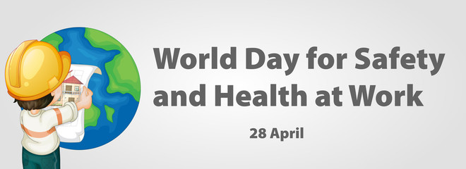 World day for safety and health at work poster