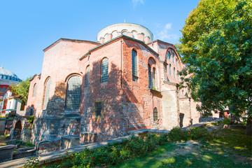 Hagia Irene church (Aya Irini) in the park of Topkapi Palace in Istanbul, Turkey