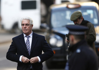 British publicist Max Clifford arrives at Southwark Crown Court in central London