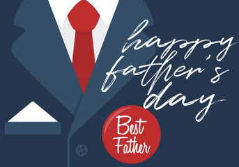 Happy father's day. Best father - greeting card design. Vector illustration