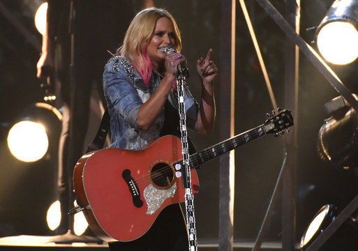 "Miranda Lambert performs ""Bathroom Sink"" at the 49th Annual Country Music Association Awards in Nashville"