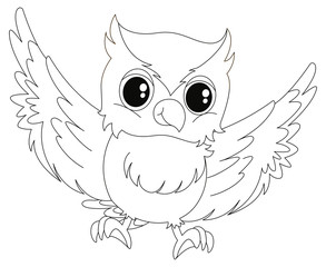 Doodle animal for little owl