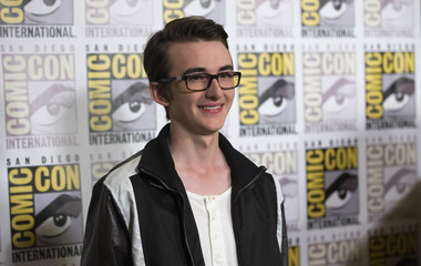 "Cast member Wright poses at a press line for ""The Boxtrolls"" during the 2014 Comic-Con International Convention in San Diego"