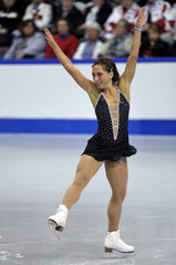 Amelie Lacoste of Canada skates at Skate Canada International in Mississauga