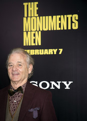 """Bill Murray arrives for the premiere of his movie """"The Monuments Men"""" in New York"""
