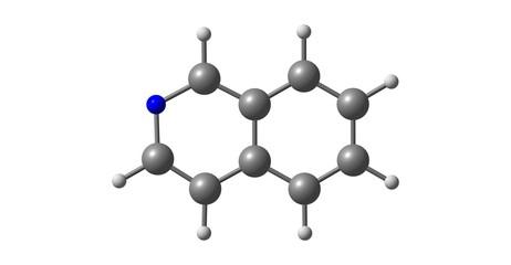 Isoquinoline molecular structure isolated on white