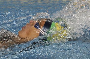 Brazil's Fabiola Molina competes in the women's 100m backstroke preliminaries at the Pan American Games in Guadalajara