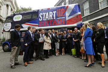 Britain's Prime Minister David Cameron  meets with Startups at Number 10 Downing Street in London
