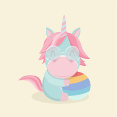 Funny cartoon unicorn.