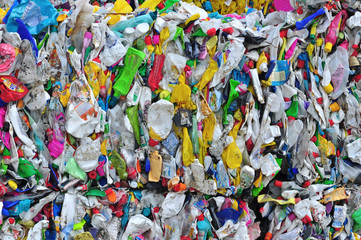 Plastic waste old bottles recycle