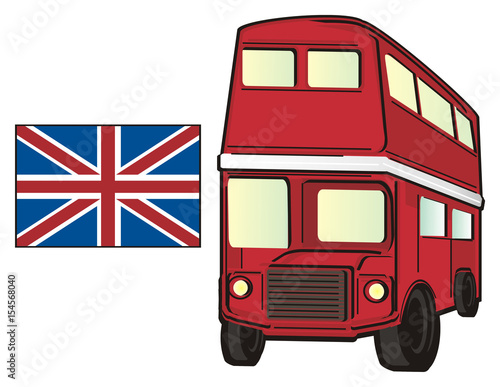 London, England, UK, Britain, Travel, Symbol, Cartoon, Illustration,