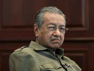 File picture shows former Malaysian prime minister Mahathir Mohamad during an interview at his office in Kuala Lumpur