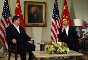U.S. President Barack Obama meets Chinese President Xi Jinping in California