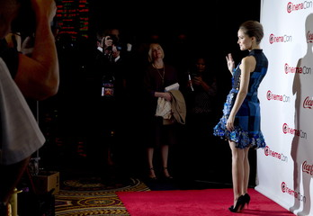 Actress Rose Byrne poses on the red carpet during the CinemaCon Big Screen Achievement Awards at Caesars Palace in Las Vegas