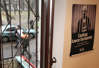 Bailiffs confiscate office and kitchen furniture and equipment from the office of leading human rights activist Ales Belyatsky in Minsk