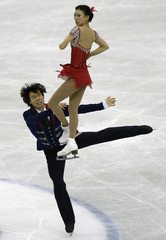 Pang and Tong of China perform during the pairs free programme at the ISU Grand Prix of Figure Skating Final in Fukuoka
