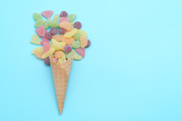 Sweets in a waffle cup, applique artwork,