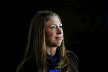 Chelsea Clinton campaigns for her mother at Abraham Lincoln High School in Des Moines