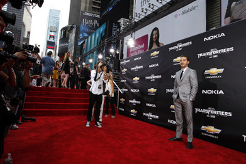 """Cast member Shia LaBeouf arrives for the premiere of """"Transformers: Dark of The Moon"""" in Times Square in New York"""