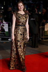 """Actress Geena Davis arrives for the Gala screening of the film """"Suffragette"""" for the opening night of the British Film Institute (BFI) Film Festival at Leicester Square in London"""