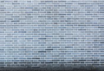 cyan brick wall