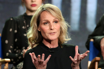 """Actress Helen Hunt speaks about the Fox television show """"Shots Fired"""" during the TCA presentations in Pasadena"""