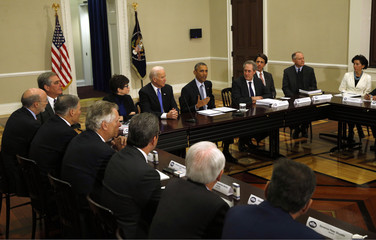 U.S. President Obama speaks at the Democratic Governors Association Meeting in the Eisenhower Executive Office Building in Washington