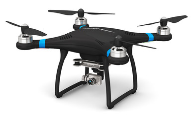 Quadcopter drone with 4K video and photo camera Wall mural