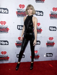 Singer Taylor Swift poses at the 2016 iHeartRadio Music Awards in Inglewood, California